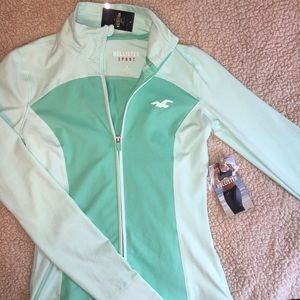 Aqua colored Hollister sport sweatshirt.